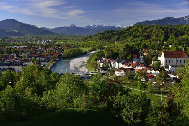 Aussicht vom Kalvarienberg, Tölzer Land, Berge, Heimatliebe