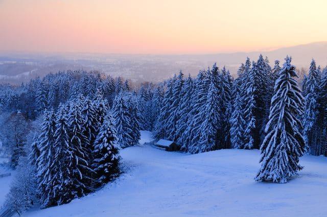 Winterbild, Schnee, Berge, Bad Tölz